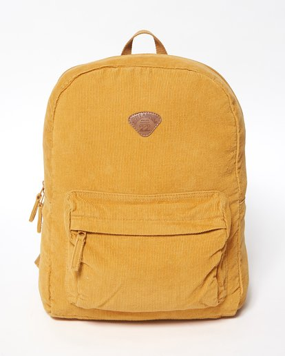 1 Schools Out Cord Backpack Yellow JABKVBSC Billabong