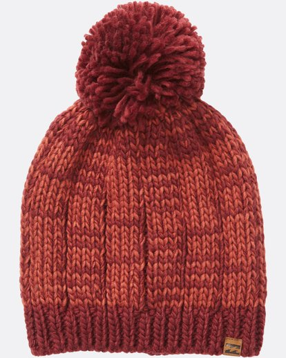 1 Chill Out Pom Pom Beanie Red JABNSBCH Billabong