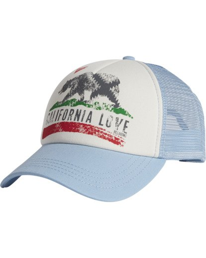 1 Pitstop Trucker Hat Blue JAHT7PIT Billabong