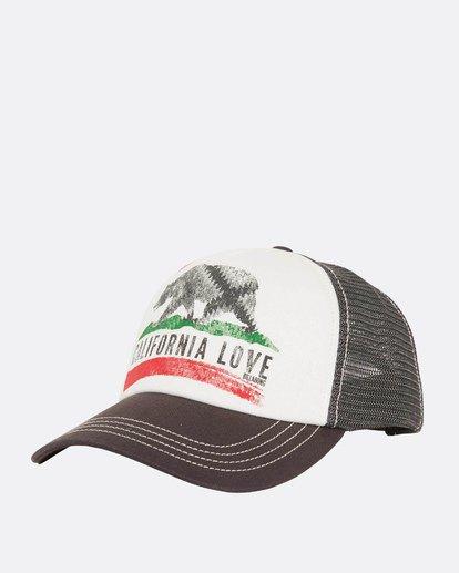 0 Pitstop Trucker Hat Grey JAHT7PIT Billabong