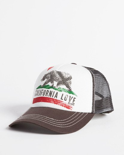 0 Pitstop Trucker Hat White JAHT7PIT Billabong