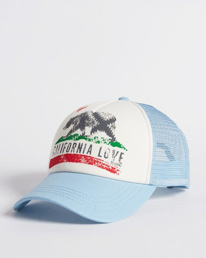 3 Pitstop Trucker Hat Blue JAHT7PIT Billabong