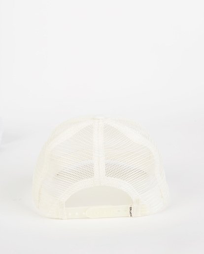 3 Pitstop Trucker Hat White JAHT7PIT Billabong