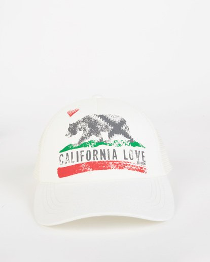 1 Pitstop Trucker Hat White JAHT7PIT Billabong