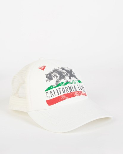 2 Pitstop Trucker Hat White JAHT7PIT Billabong