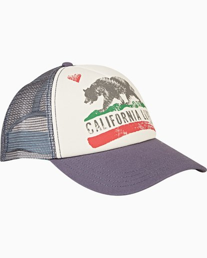 2 Pitstop Trucker Hat Blue JAHT7PIT Billabong