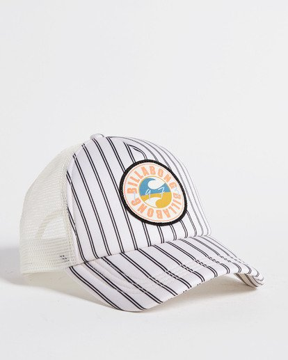 3 Heritage Mashup Trucker Hat White JAHTBHER Billabong