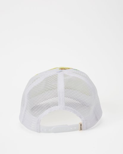 3 Hawaii Pineapple Dreamz Trucker Hat White JAHTJPDR Billabong