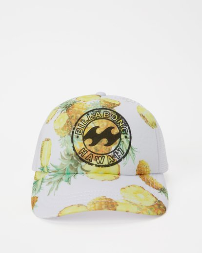 1 Hawaii Pineapple Dreamz Trucker Hat White JAHTJPDR Billabong