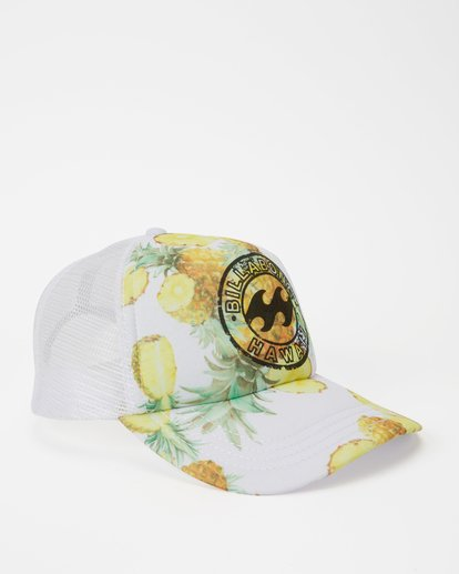 2 Hawaii Pineapple Dreamz Trucker Hat White JAHTJPDR Billabong
