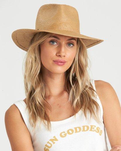 0 Desert Palms Straw Hat Red JAHW1BDE Billabong