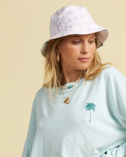 1 Salty Blonde Party On Reversible Bucket Hat Pink JAHW3BPA Billabong