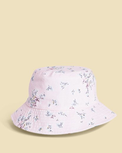 2 Salty Blonde Party On Reversible Bucket Hat Pink JAHW3BPA Billabong
