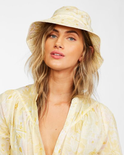 3 Still Single Bucket Hat Yellow JAHW3BST Billabong