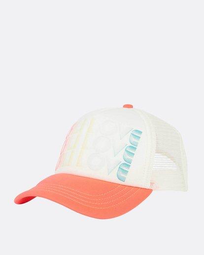 0 Across Waves Trucker Hat White JAHWNBAC Billabong