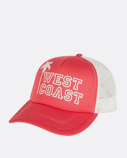 0 Across Waves Trucker Hat Pink JAHWNBAC Billabong