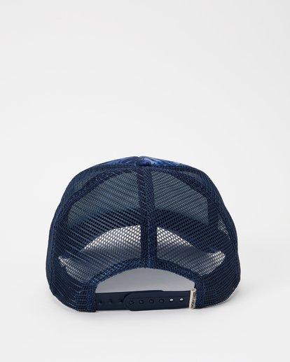 3 Hawaii Blue Palm Trucker Hat Grey JAHWNBBR Billabong