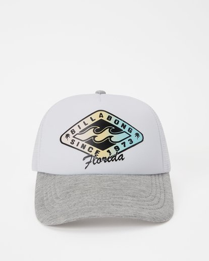 1 Florida Palm Billa Trucker Hat Grey JAHWNBMR Billabong