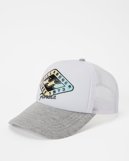 0 Florida Palm Billa Trucker Hat Grey JAHWNBMR Billabong