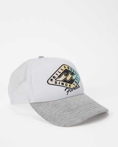 2 Florida Palm Billa Trucker Hat Grey JAHWNBMR Billabong