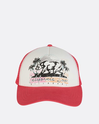 1 Retro Bear Trucker Hat Pink JAHWNBRE Billabong