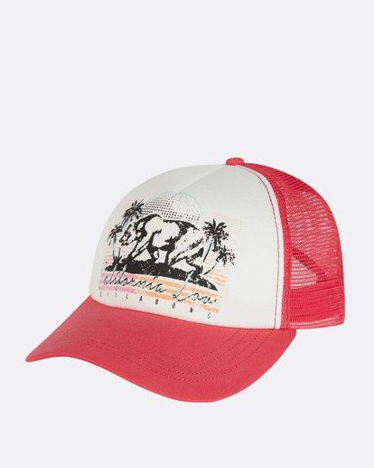 0 Retro Bear Trucker Hat Pink JAHWNBRE Billabong