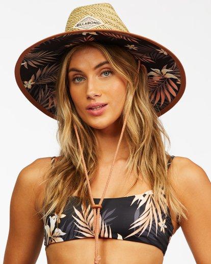 1 Tipton Straw Lifeguard Hat Black JAHWNBTI Billabong