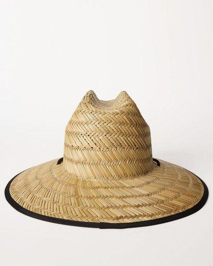3 Tipton Straw Lifeguard Hat Black JAHWNBTI Billabong