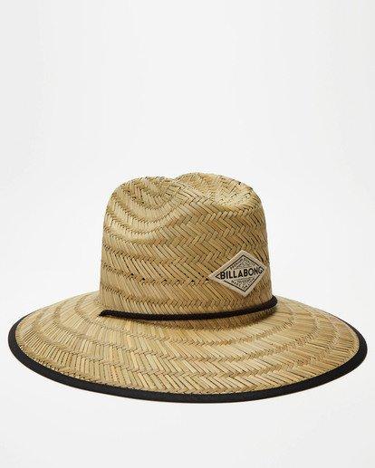 2 Tipton Straw Lifeguard Hat Black JAHWNBTI Billabong