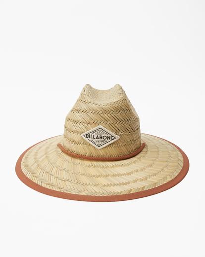 2 Tipton Straw Lifeguard Hat Brown JAHWNBTI Billabong