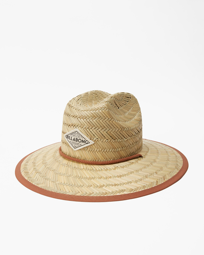 1 Tipton Straw Lifeguard Hat Brown JAHWNBTI Billabong