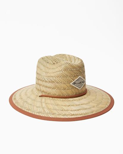 3 Tipton Straw Lifeguard Hat Brown JAHWNBTI Billabong