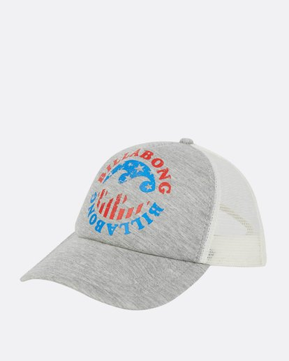 0 Across Waves Trucker Hat  JAHWPBAC Billabong