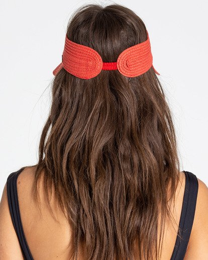 1 Not Now Straw Visor Red JAHWPBNO Billabong