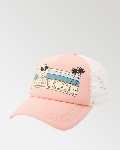 0 Across Waves Trucker Hat Pink JAHWQBAC Billabong