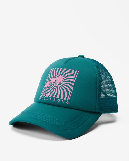 0 Across Waves Trucker Hat Green JAHWQBAC Billabong