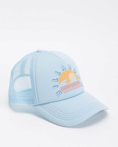 2 Across Waves Trucker Hat Blue JAHWQBAC Billabong