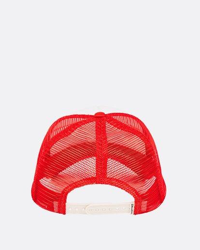 3 Across Waves Trucker Hat Red JAHWQBAC Billabong
