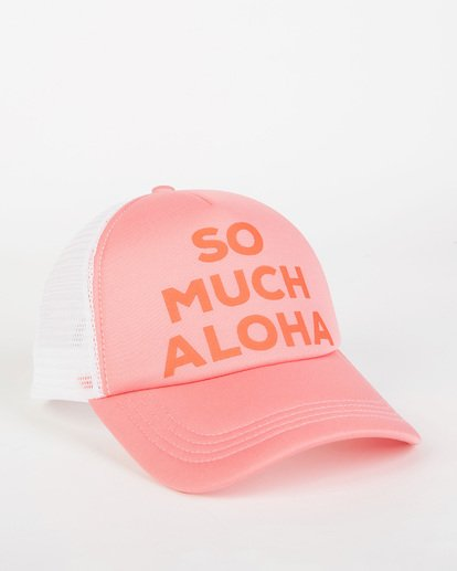 2 Across Waves Trucker Hat Pink JAHWQBAC Billabong