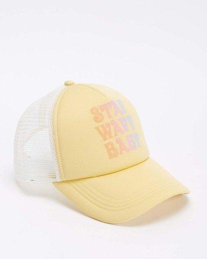 2 Across Waves Trucker Hat Yellow JAHWQBAC Billabong