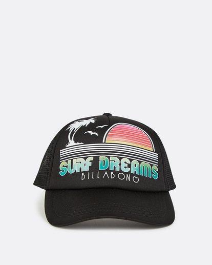1 Across Waves Trucker Hat Black JAHWQBAC Billabong