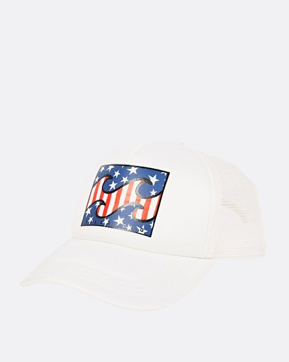 0 Across Waves Trucker Hat White JAHWQBAC Billabong
