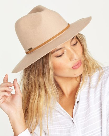 1 No Worries Felt Hat Beige JAHWQBNO Billabong