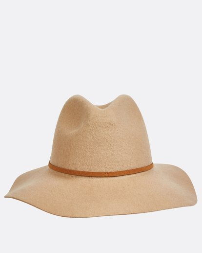3 No Worries Felt Hat Beige JAHWQBNO Billabong