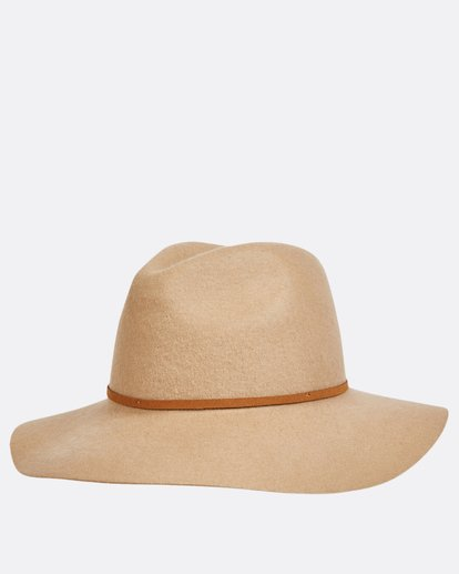 2 No Worries Felt Hat Beige JAHWQBNO Billabong