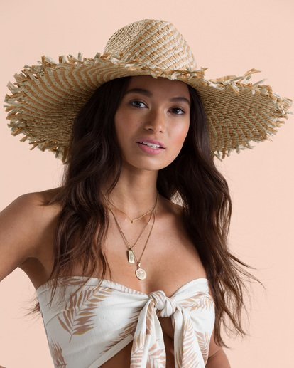 2 Sincerely Jules Catching Rays Straw Hat White JAHWTBCA Billabong