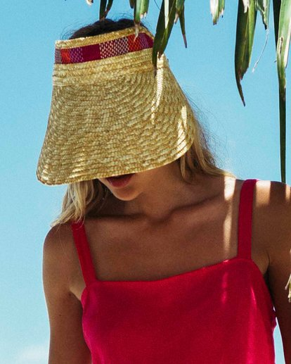 0 Far Away Straw Visor Yellow JAHWUBFA Billabong