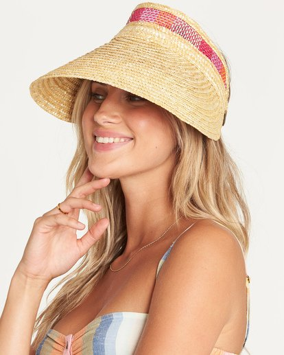 1 Far Away Straw Visor Yellow JAHWUBFA Billabong