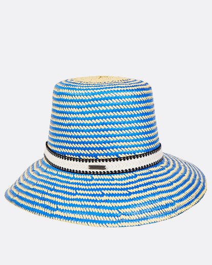 3 Now Or Never Straw Hat Blue JAHWUBNO Billabong