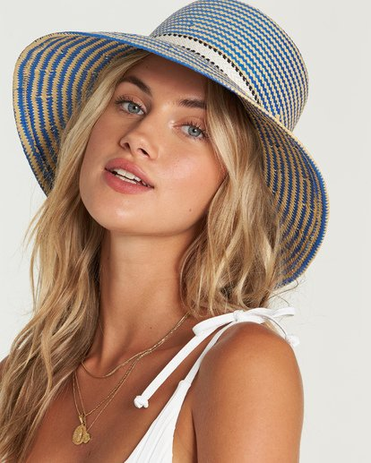 5 Now Or Never Straw Hat Blue JAHWUBNO Billabong